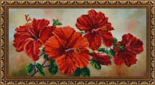 Вышивка бисером картины цветы