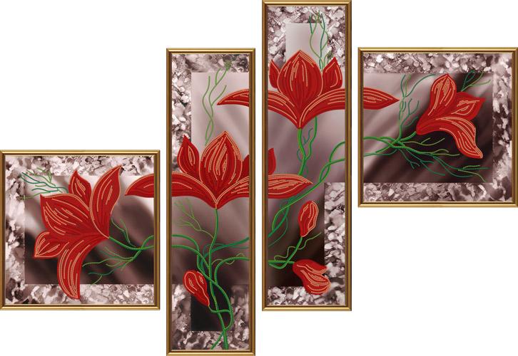 Картина триптих вышивка бисером