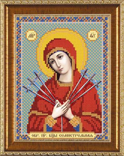 Богородица семистрельная вышивка