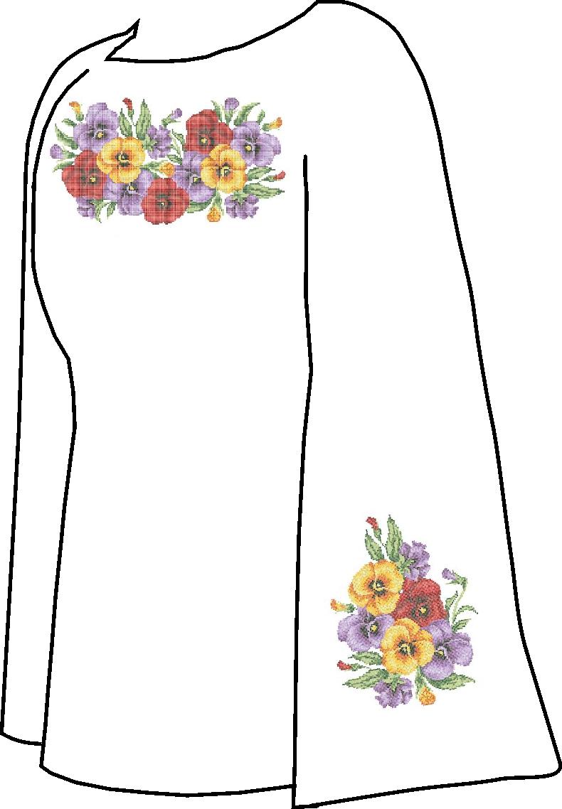 Заготовка для вышивки сорочки (Заготовка для вишиванки бісером ... 396834442b409