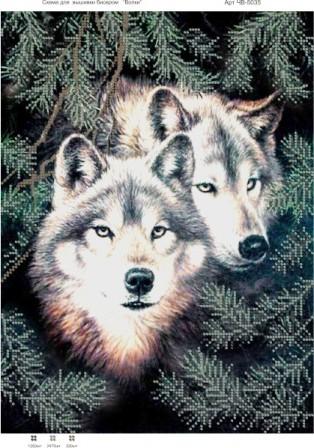 Купить схему для вышивки бисером волков