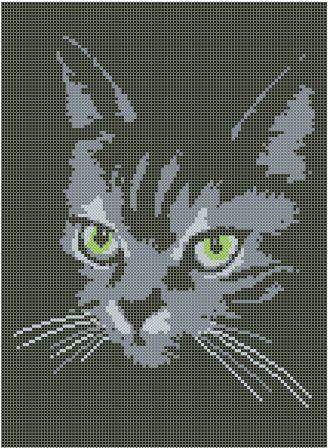 Рисунок вышивка кошка