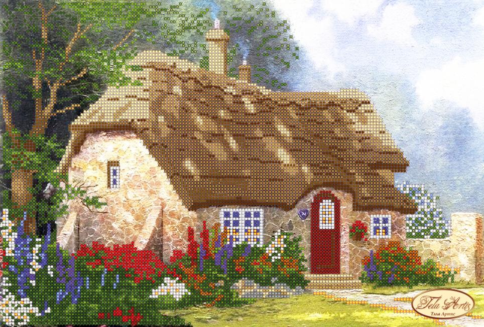 Вышивка рисунок дома
