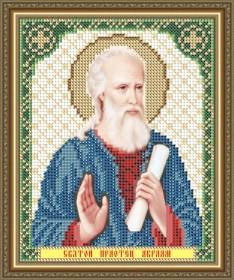Схема вышивки бисером на габардине Св. праотец Авраам