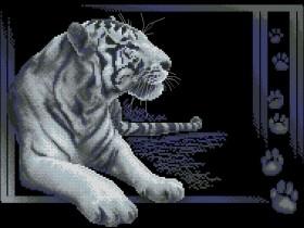 Схема вышивки бисером на атласе Тигр