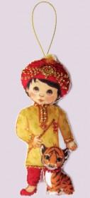 Набор для изготовления куклы из фетра для вышивки бисером Кукла. Индия-М