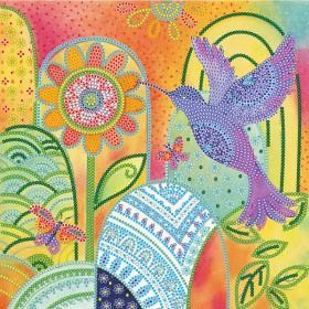 Схема вышивки бисером на холсте Экзотическая птица