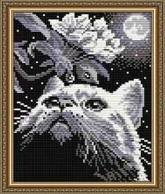 Набор для выкладки алмазной техникой Кот с веточкой