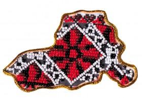 Набор - магнит для вышивки бисером Карта Украины Херсонская область, , 56.00грн., АМК-021, Абрис Арт, Украина