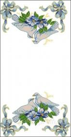 Схема вышивки бисером на атласе Свадебный рушник, , 220.00грн., РЗ-10-Э, Эдельвейс, Рушники свадебные, рушники пасхальные