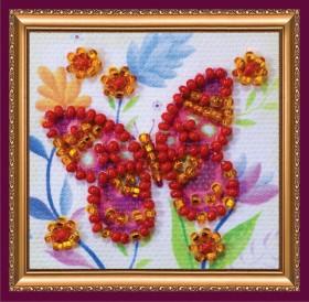 Набор - магнит для вышивки бисером Летающий цветок