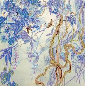 Схема вышивки бисером на холсте Утро в лианах