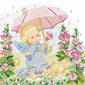 Схема вышивки бисером на холсте Озорной дождик