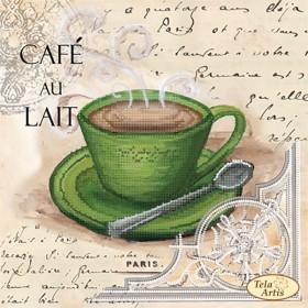 Схема вышивки бисером на атласе Кофе в Париже 5
