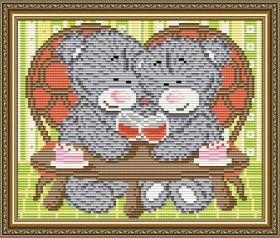 Набор для выкладки алмазной техникой Мишка на свидании