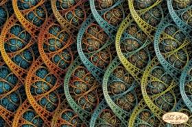 Схема вышивки бисером на атласе Фрактал Бесконечность