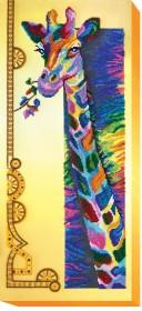 Набор для вышивки бисером на холсте Радужный жираф, , 476.00грн., АВ-438, Абрис Арт, Большие наборы