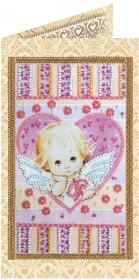 Набор - открытка для вышивки бисером Маленький купедон