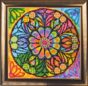 Набор для вышивки бисером Мандала Счастья, , 435.00грн., 122Б, Баттерфляй (Butterfly), Схемы и наборы для вышивки бисером по Фен шуй