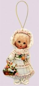 Набор для изготовления куклы из фетра для вышивки бисером Кукла. Италия.