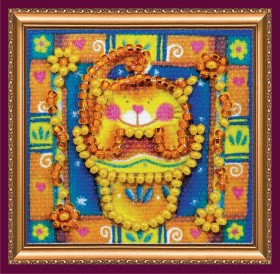 Набор - магнит для вышивки бисером Необычный цветочек