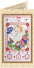 Набор - открытка для вышивки бисером Нежный ангелочек