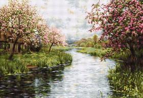 Набор для вышивки крестом Весенний пейзаж, , 1 258.00грн., В545, Luca-S, Большие наборы