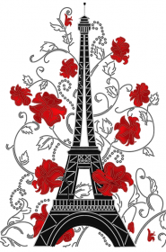 Схема вышивки бисером на атласе Цветущий Париж