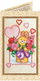 Набор - открытка для вышивки бисером Солнечный зайчик