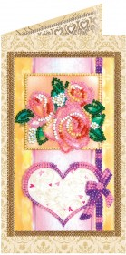 Набор - открытка для вышивки бисером С Любовью 4