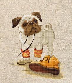 Набор для вышивки крестом Мопс