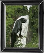 Набор для вышивки крестом Чёрная пантера