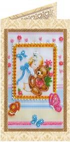 Набор - открытка для вышивки бисером Любимой доченьке