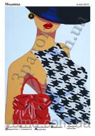 Схема вышивки бисером на атласе Модница