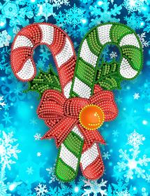 Схема вышивки бисером на атласе Рождественские карамельки