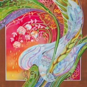 Схема вышивки бисером на холсте Райская птица