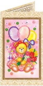 Набор - открытка для вышивки бисером Праздник детства