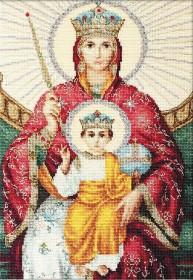 Набор для вышивки крестом Божья Матерь Державная, , 432.00грн., BR113, Luca-S, Наборы с пришивными камнями