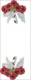 Схема вышивки бисером на атласе Свадебный рушник, , 220.00грн., РЗ-14-Э, Эдельвейс, Рушники свадебные, рушники пасхальные