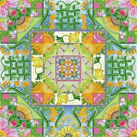 Схема вышивки бисером на холсте Августовский паттерн