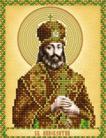 Схема вышивки бисером на атласе Св. Иннокентий