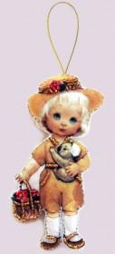 Набор для изготовления куклы из фетра для вышивки бисером Кукла. Австралия