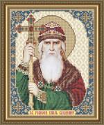 Схема вышивки бисером на габардине Св. Равноап. Князь Владимир