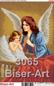 Схема вышивки бисером на габардине Ангели-охоронеці снів