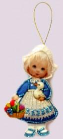 Набор для изготовления куклы из фетра для вышивки бисером Кукла. Голландия