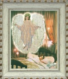 Схема вышивки бисером на ткани Ангел сна