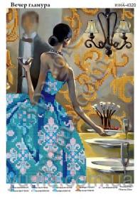 Схема вышивки бисером на атласе Вечер гламура