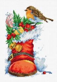 Набор для вышивки крестом Рождественский сапожок