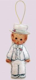 Набор для изготовления куклы из фетра для вышивки бисером Кукла. Жених