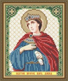 Схема вышивки бисером на габардине Св. Пророк Царь Давид